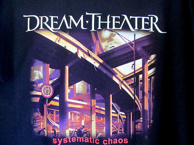 DREAM THEATER...CHAOS IN MOTION...WORLD TOUR...T-SHIRT...NEW.,..sz 2XL