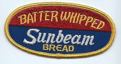Sunbeam Bread 'batter whipped' employee/driver patch 2 X 4-1/8 cheesecloth back