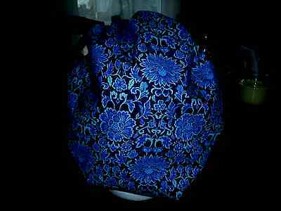 Bouffant surgical scrub hat, medical, chef,pharmacy, flowers, blue, silver