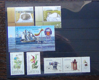 Lithuania 1992 Plants 2005 Europa 2006 National Theatre 2009 Tall Ships MNH