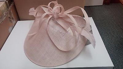 John Charles Disc Hat Blush Pink Mother of the Bride BRAND NEW £210