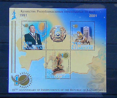 Kazakhstan 2001 10th Anniversary of Independence Miniature sheet MNH