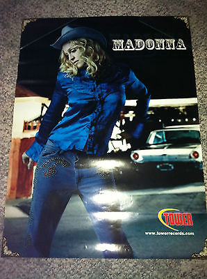 Madonna Music Promo Poster, Tower Records