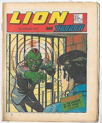 Lion 6th Jan 1973 (high grade copy) 4pg Spider, Spellbinder, Adam Eterno