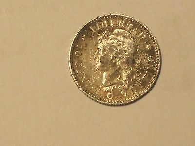 Argentina 1883 10 Cents Coin. Very Fine Condition