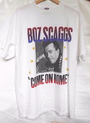 Vintage Boz Scaggs Concert XL T-Shirt White COME ON HOME Tour 1997 Country Blues