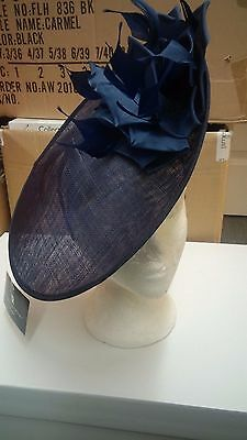 Nigel Rayment Disc Hat Navy Mother of the Bride Races BRAND NEW RRP £160