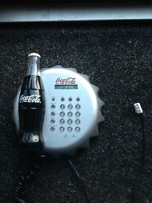 Vintage Coca Cola Wall Phone /Clock Musical Ring