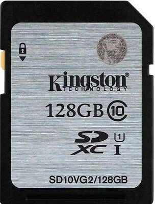 Kingston (128GB) SDXC Flash Card Class 10 UHS-1 45MB/s Read