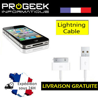 CABLE USB CHARGEUR DATA iPHONE 4 4S 3 iPad 1-2-3 iPod Nano iTouch