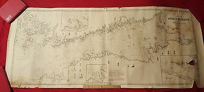 1856 - Large - Nautical Blue Back Map - Gulf of Finland -Hobbs, Norie & Wilson -