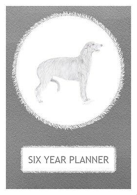Deerhound Dog Show Six Year Planner/Diary by Curiosity Crafts 2017-2022