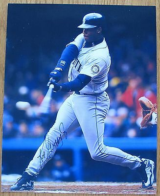 Ken Griffey JR Seattle Mariners signed 8x10 photo