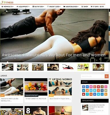 Fitness Ecommerce, Adsense and Affiliate Website For Sale - Mobile Responsive