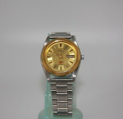 Vintage Men's Citizen 21 Jewels Day & Date Automatic Watch In VGC.