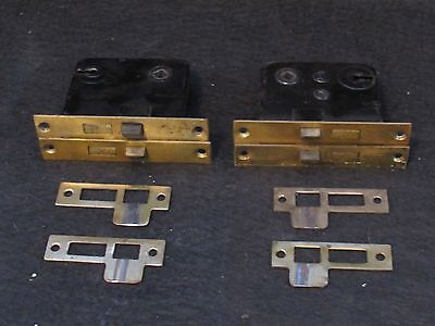 ONE Antique Mortise Lock and Strike Plate - Working