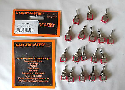 18 x Gaugemaster GM506 A5A Mini-Toggle Switch DPDT New