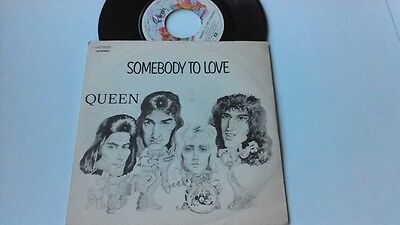 """7"""" Queen """" Somebody To Love """" Orig Italy 1976"""