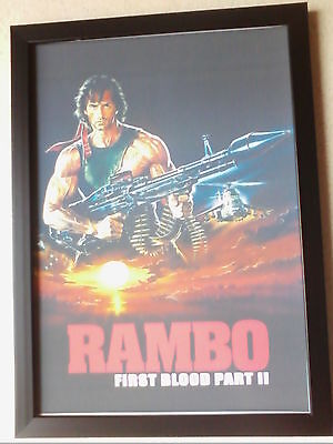 Rambo: First Blood Part II (1985) framed movie poster print