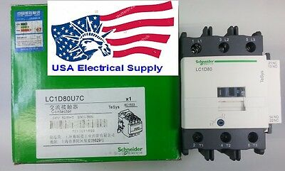 New Schneider Contactor  LC1D80U AC Coil 240V Available  50/60Hz 80A