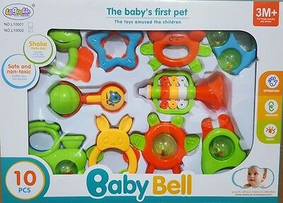 Quality Baby Bell Gift  10 Pcs Toys  Sounds   3M+ ... Low Price