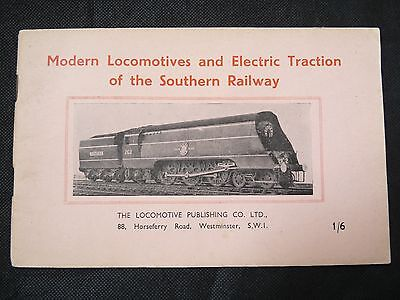 Vintage Book Modern Locomotives And Electric Traction Of The Southern Railway Sr