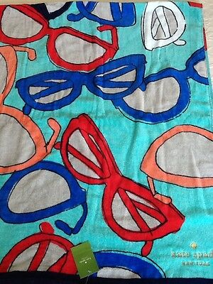 NEW KATE SPADE Sunglasses Beach Towel Soft & Large 70x40 Authentic NWT
