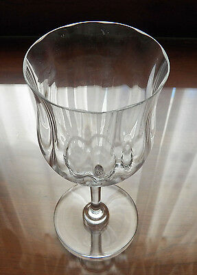 """Baccarat Crystal Capri Optic Tall 7 1/8"""" Water Goblet Buy 1 up to 9"""