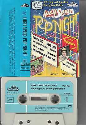 V.A. - High Speed Pop Night *Genesis,Abba,Kiss,Peter Gabriel ★ MC Musikkassette