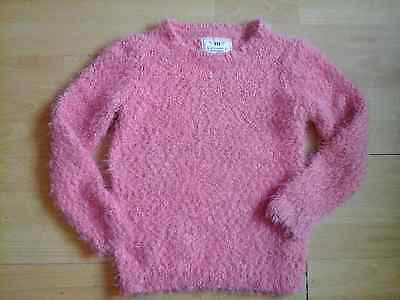 Girl's YD pink fluffy jumper 8-9 years
