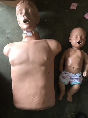 (2) Two Stimulaid Adult/infant CPR TRAINING MANIKIN WITH CARRYING CASE