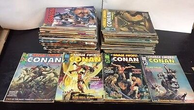 Savage Sword of Conan First issues 1-8, + HUGE Lot of 83 issues total!