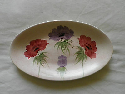 Edward Radford Pottery England Hand Painted Oval Plate / Dish.