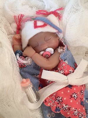 "OOAK 3""-4"" Baby Girl Doll Clothes~Pacifier~5 PC~FOR Mini Reborn~Polymer Clay"
