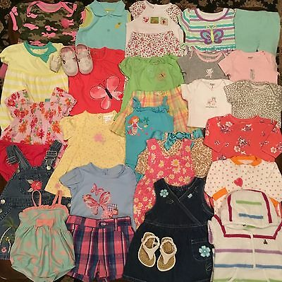 Huge Lot Of Baby Girl Clothes Size 3M 3-6M Euc