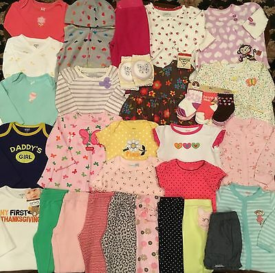 Huge Lot Of Baby Girl Clothes Size 9M Euc Some Nwt Items