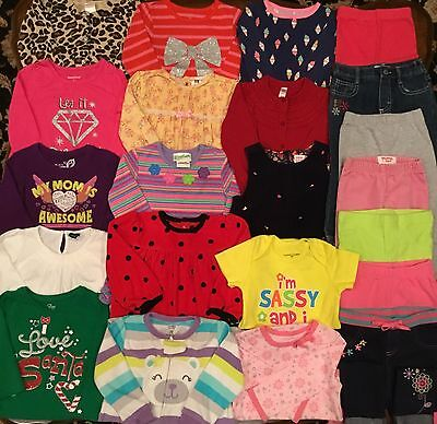 Name Brands Lot Of Baby Girl Clothes Size 18M 18-24M Fall/winter Euc Gymboree Pl