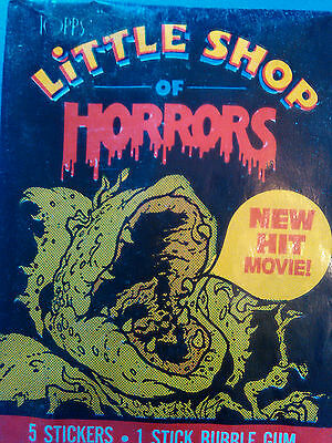 Collector cards; LITTLE SHOP OF HORRORS..1986' ONE Sealed Pack