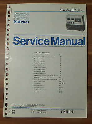 Recorders N2521 Philips Service Manual Serviceanleitung