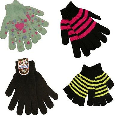 Job Lot Wholesale 20 Ladies Patterned Stripe Magic One Size Mixed Gloves