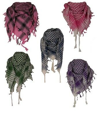Job Lot Wholesale 20 Ladies Mens Unisex Shemagh Cotton Dogtooth Pattern Scarves