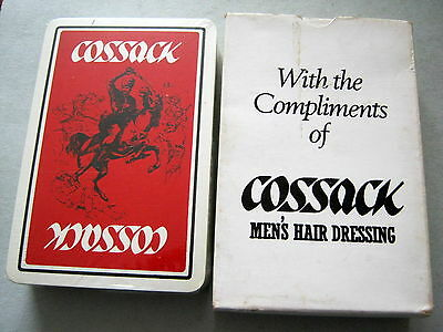 COSSACK SEALED ADVERT FOR MENS HAIR DRESSING 1950s VINTAGE PLAYING CARDS