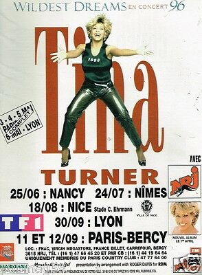 Collectibles Publicite Advertising 2000 Tina Turner Concert Stade France & Radio Nrj