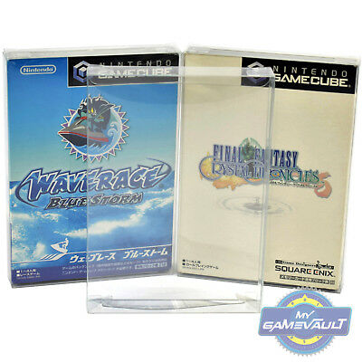 10 x Game Box Protectors for GameCube Japanese Japan 0.4mm Plastic Display Case