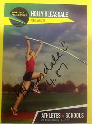 HOLLY BLEASDALE Hand Signed Promo - Pole Vault - British Olympics London 2012