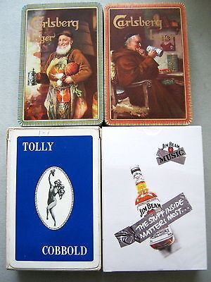 January Sale 4 Alcohol Brewery Decks Vintage Playing Cards 3 X 1930 - 1960