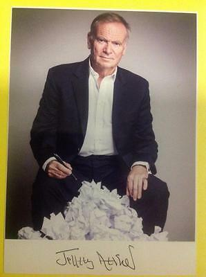 JEFFREY ARCHER Hand Signed Promo - Lord Conservative Politician, Author #2
