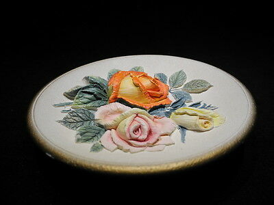 """Bossons Artware Floral, """"Summer"""", Wall Ornament 6"""" Plate, Congleton England"""