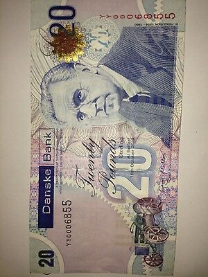 danske bank limited £20. note with yy replacement number