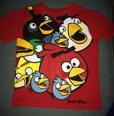 """Boys Red """"Angry Birds"""" T-shirt Aged 5-6 Years"""